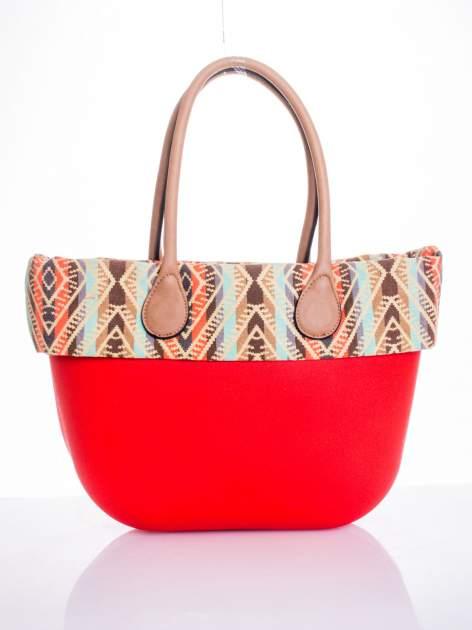 Czerwona torba gumowa z motywem azteckim                                  zdj.                                  1