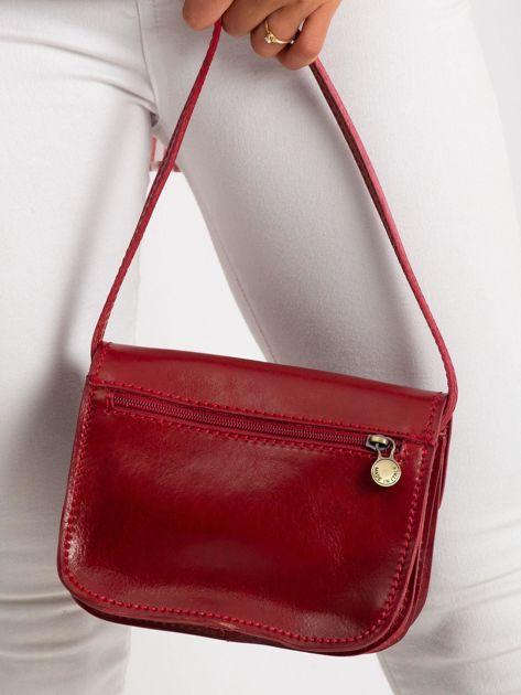 Czerwona torebka damska ze skóry                              zdj.                              5
