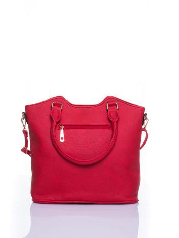 Czerwona torebka fakturowana w pasy                                   zdj.                                  3