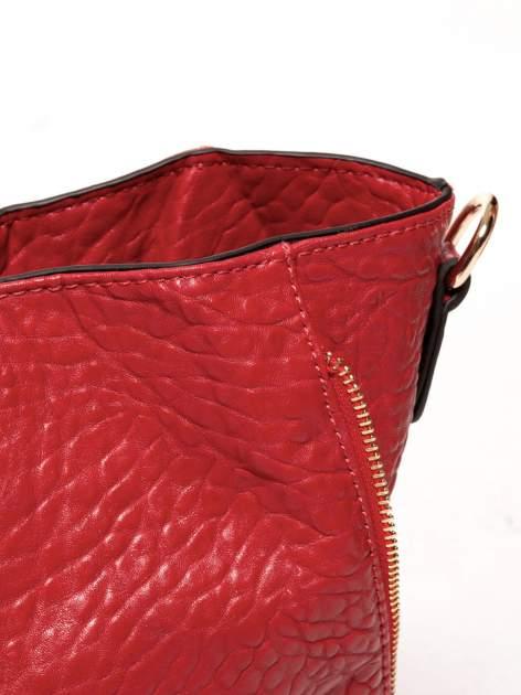 Czerwona torebka shopper bag z apaszką                                  zdj.                                  8