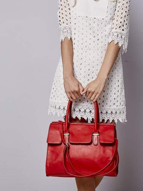 Czerwona torebka teczka z klapką                                  zdj.                                  1