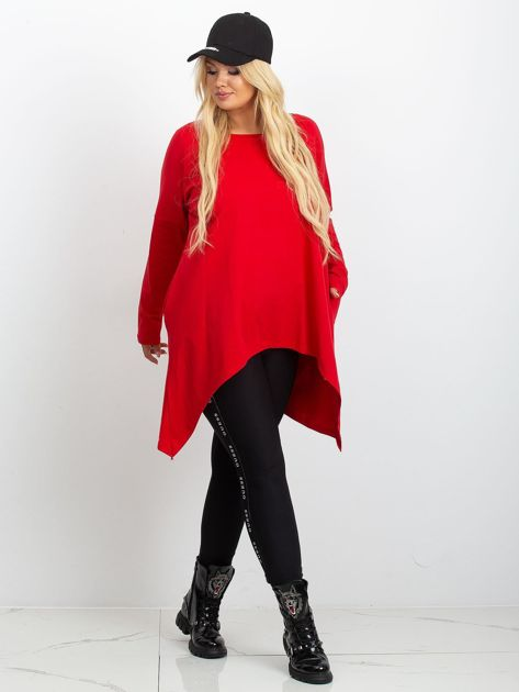 Czerwona tunika plus size Moa                              zdj.                              4