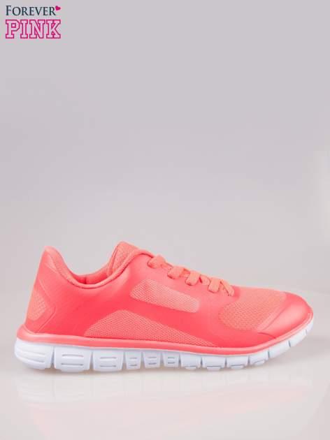 Czerwone buty sportowe damskie z podeszwą z rowkami flex