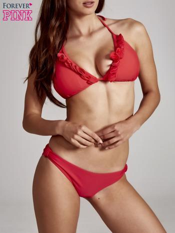 Czerwone gładkie majtki kąpielowe                                  zdj.                                  3