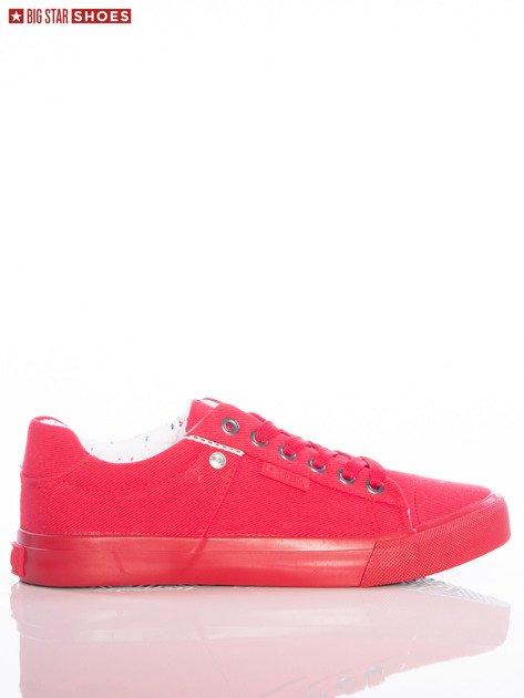 Czerwone jednolite trampki Big Star                               zdj.                              1