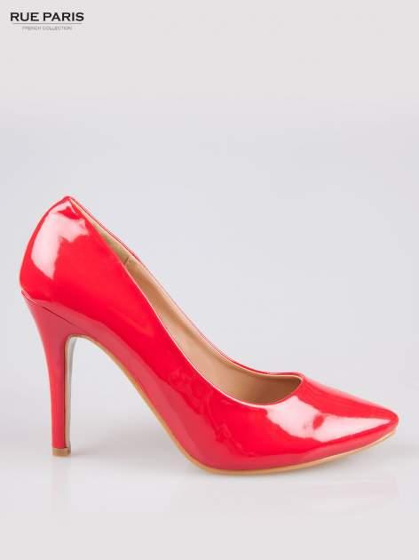 Czerwone klasyczne szpilki ze smukłym noskiem                                  zdj.                                  1