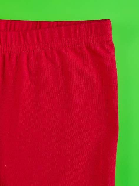 Czerwone legginsy dla dziewczynki ŚWINKA PEPPA                                  zdj.                                  5