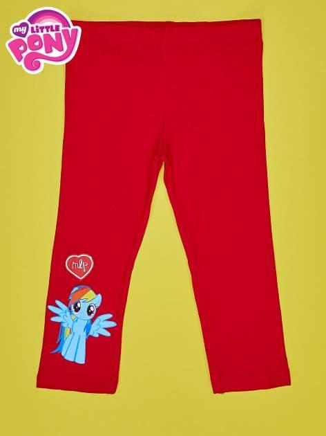 Czerwone legginsy dla dziewczynki z nadrukiem MY LITTLE PONY                                  zdj.                                  1
