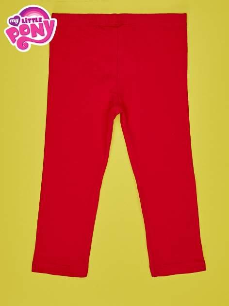 Czerwone legginsy dla dziewczynki z nadrukiem MY LITTLE PONY                                  zdj.                                  2