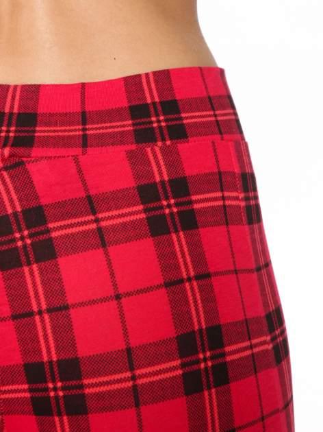 Czerwone legginsy w kratę                                  zdj.                                  6