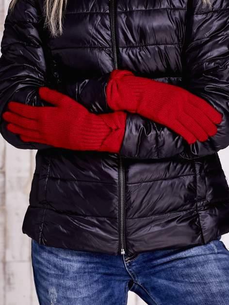 Czerwone rękawiczki z kokardą w stylu retro                                  zdj.                                  2