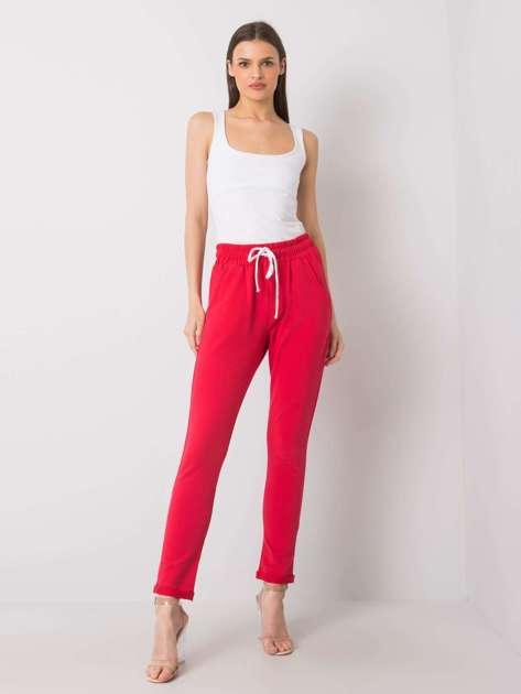 Czerwone spodnie dresowe Prisha