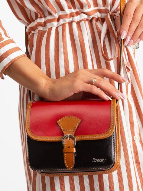 Czerwono-czarna damska torebka                              zdj.                              3