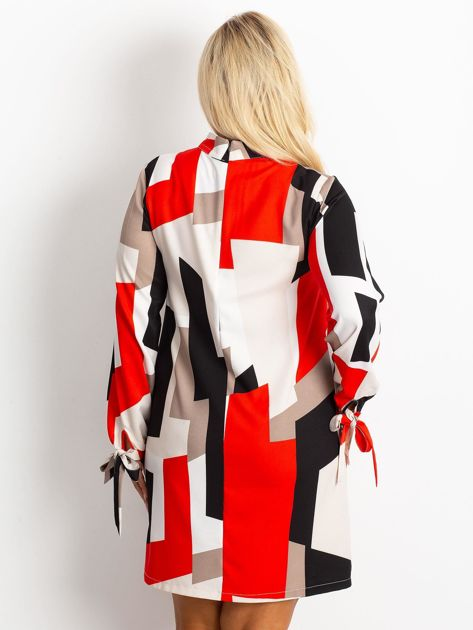 Czerwono-granatowa sukienka plus size Until                              zdj.                              2