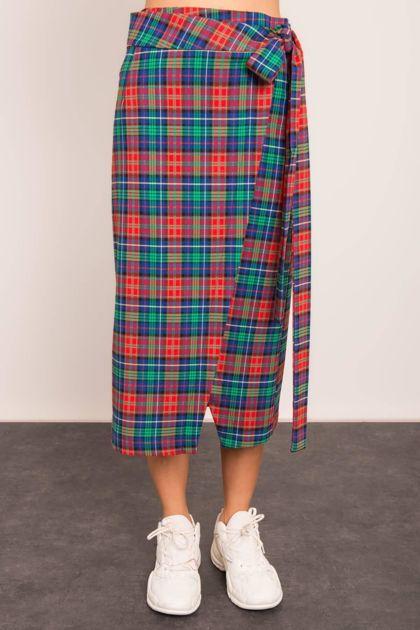 Czerwono-zielona spódnica BSL