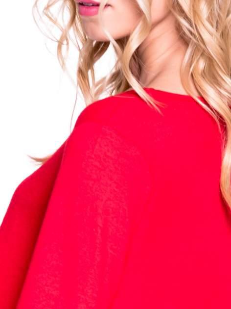 Czerwony klasyczny sweterek                                  zdj.                                  5
