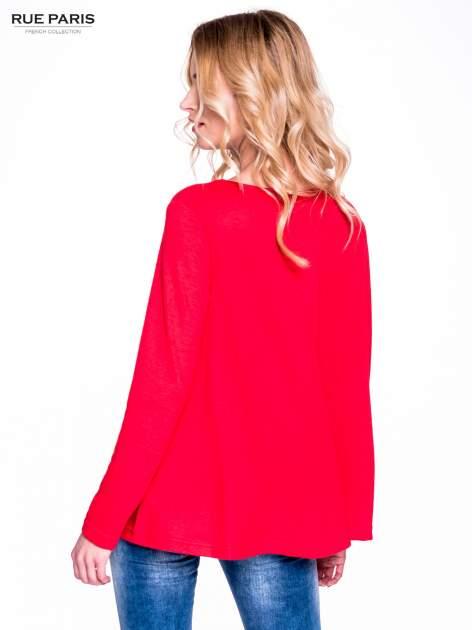 Czerwony klasyczny sweterek                                  zdj.                                  4