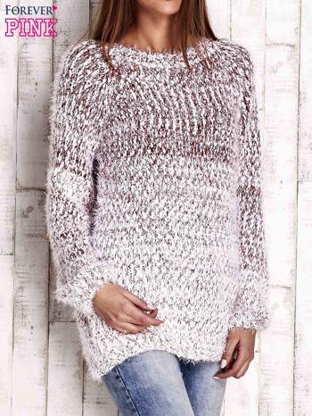 Czerwony melanżowy sweter long hair                                  zdj.                                  3