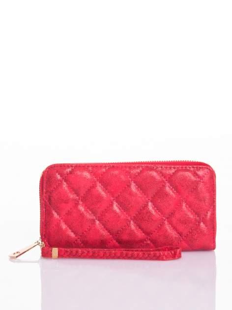 Czerwony pikowany portfel                                  zdj.                                  4