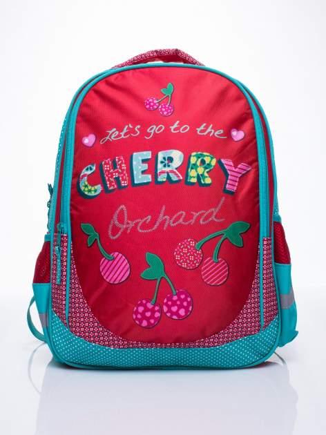 Czerwony plecak szkolny DISNEY w wisienki