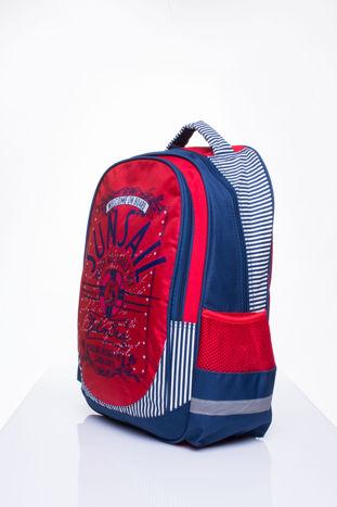 Czerwony plecak szkolny DISNEY z motywem żeglarskim                                  zdj.                                  2