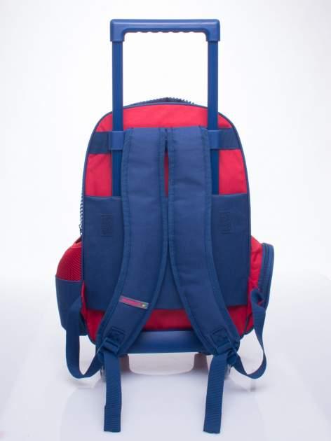Czerwony plecak szkolny na kółkach walizka DISNEY z motywem żeglarskim                                  zdj.                                  7