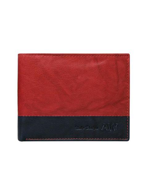 Czerwony portfel bez zapięcia                              zdj.                              1