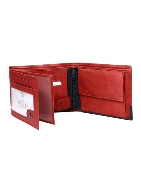 Czerwony portfel bez zapięcia                              zdj.                              2