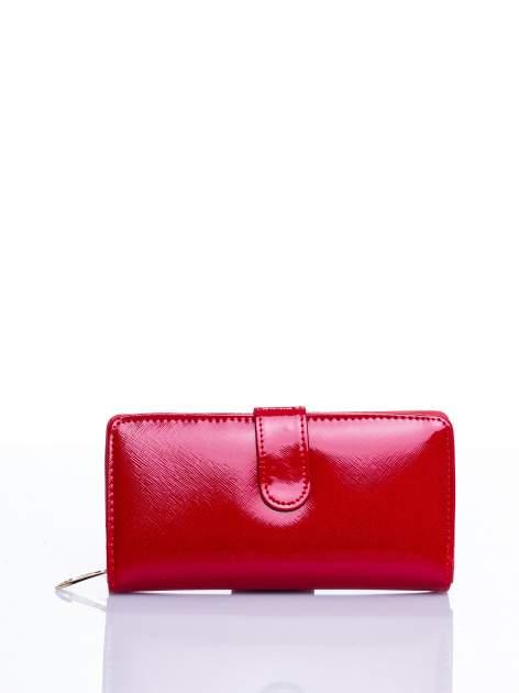 Czerwony portfel efekt skóry saffiano                                  zdj.                                  1