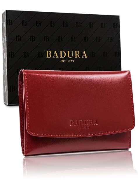 Czerwony portfel męski BADURA