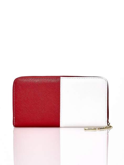Czerwony portfel two tone z uchwytem                                  zdj.                                  2