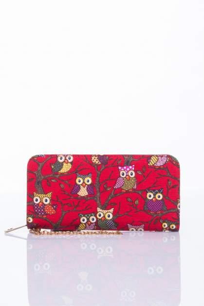 Czerwony portfel w sówki