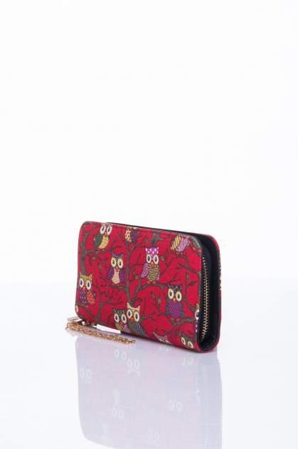 Czerwony portfel w sówki                                  zdj.                                  2
