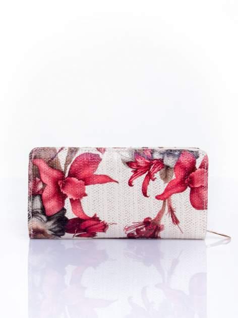 Czerwony portfel z egzotycznym nadrukiem                                  zdj.                                  2