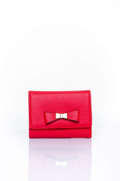 Czerwony portfel z kokardką                                  zdj.                                  1