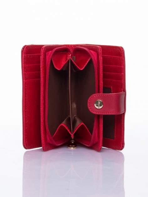 Czerwony portfel z zatrzaskiem                                  zdj.                                  6