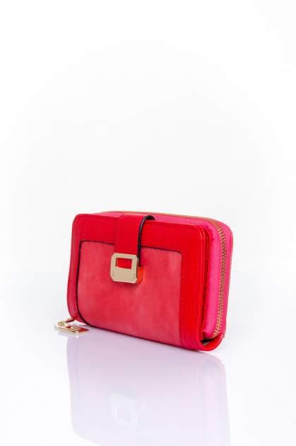 Czerwony portfel ze złotą klamerką                                  zdj.                                  3