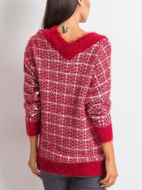 Czerwony sweter Happiness                              zdj.                              2