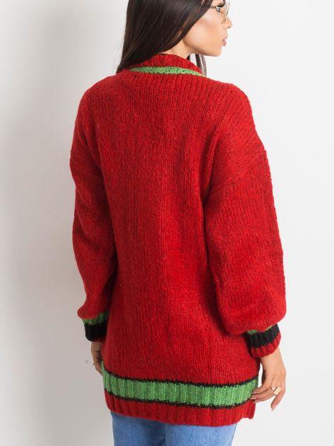 Czerwony sweter Lavish                              zdj.                              2