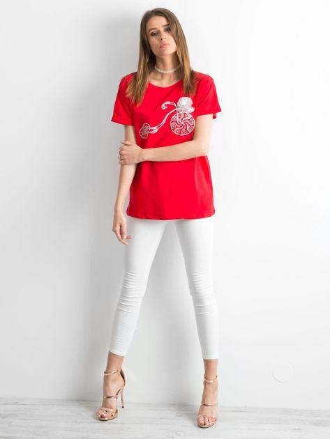Czerwony t-shirt Ahead                              zdj.                              4