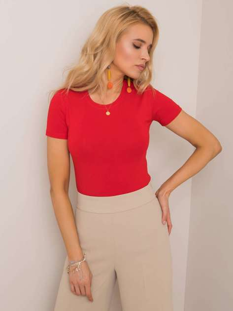 Czerwony t-shirt Ellena