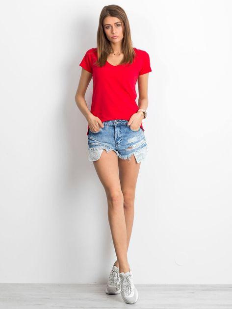 Czerwony t-shirt Square                              zdj.                              4
