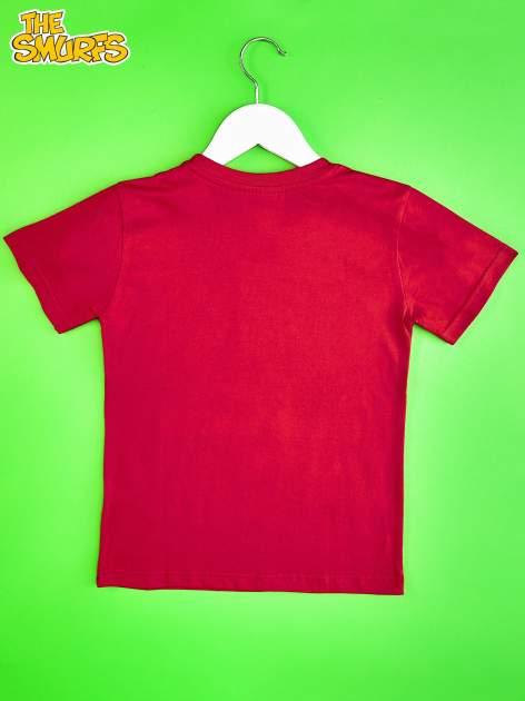 Czerwony t-shirt chłopięcy SMERFY                                  zdj.                                  2