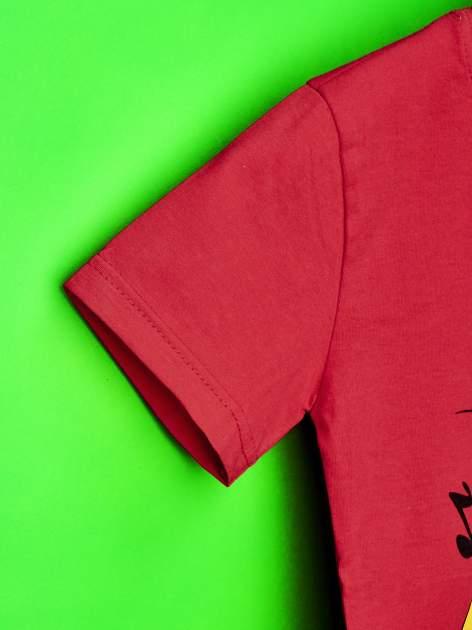 Czerwony t-shirt chłopięcy SMERFY                                  zdj.                                  6