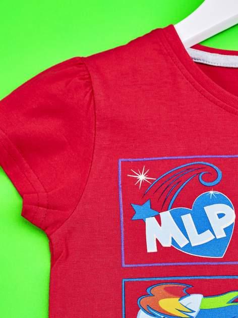 Czerwony t-shirt dla dziewczynki z motywem MY LITTLE PONY                                  zdj.                                  3