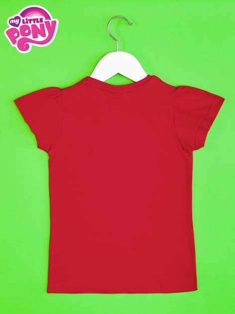 Czerwony t-shirt dla dziewczynki z nadrukiem MY LITTLE PONY                                   zdj.                                  2