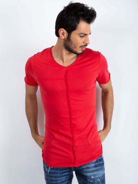 Czerwony t-shirt męski Rebel
