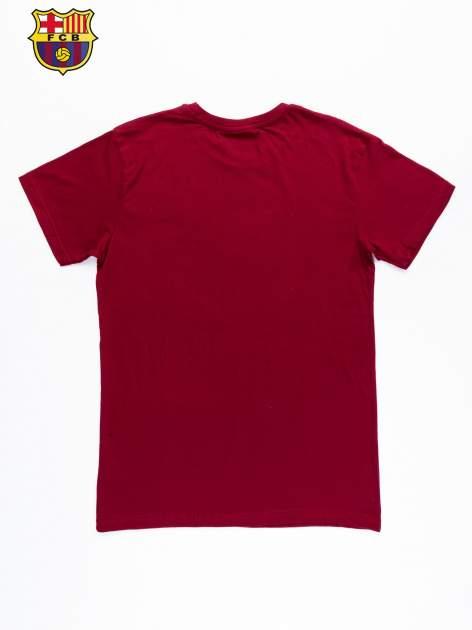 Czerwony t-shirt męski z nadrukiem FC BARCELONA                                  zdj.                                  10