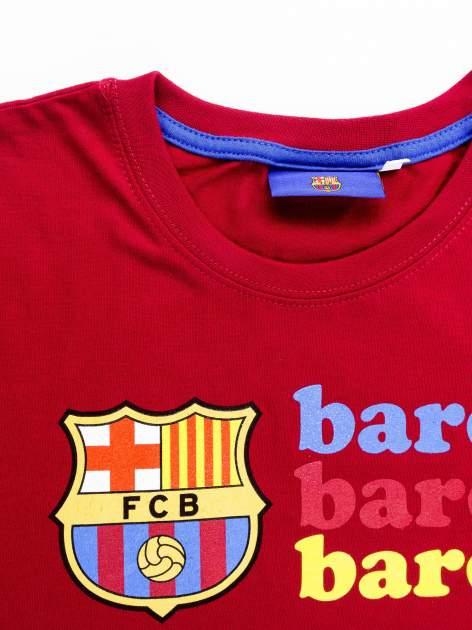 Czerwony t-shirt męski z nadrukiem FC BARCELONA                                  zdj.                                  12