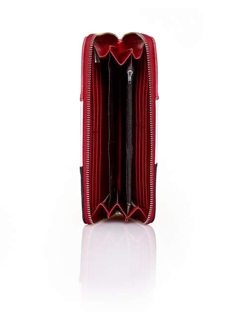 Czerwony trójkolorowy portfel z uchwytem                                  zdj.                                  3